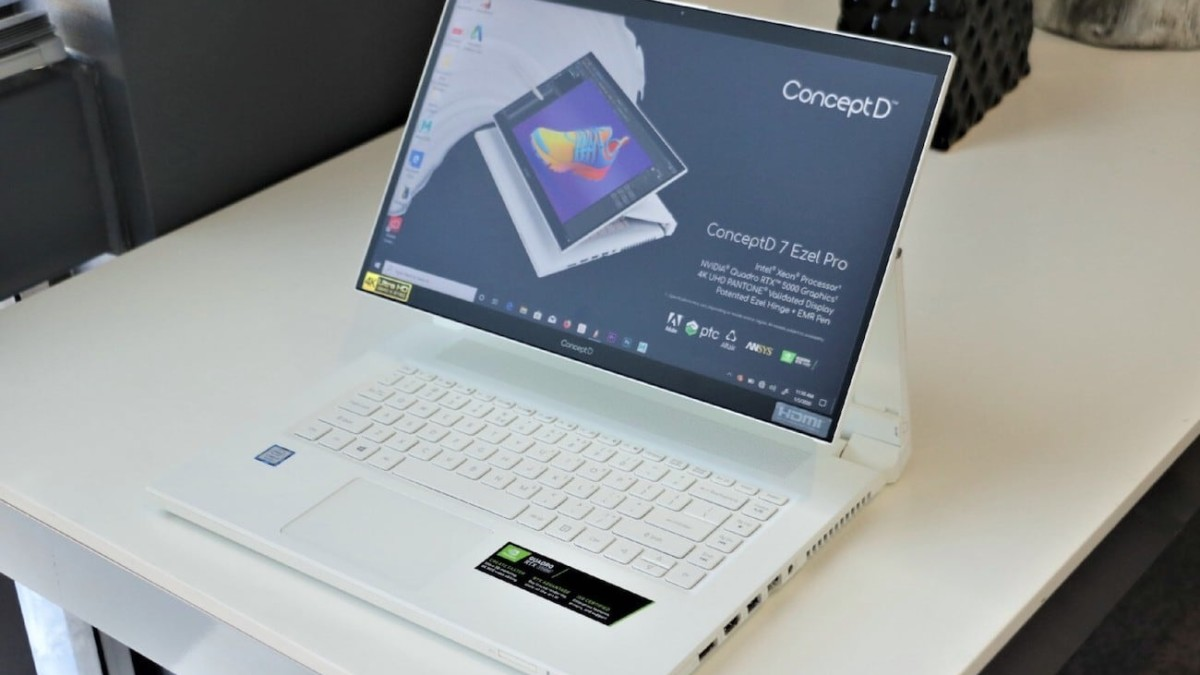 Acer ConceptD 7 Ezel & ConceptD 7 Ezel Pro Swing-Hinge Laptops work in five different positions