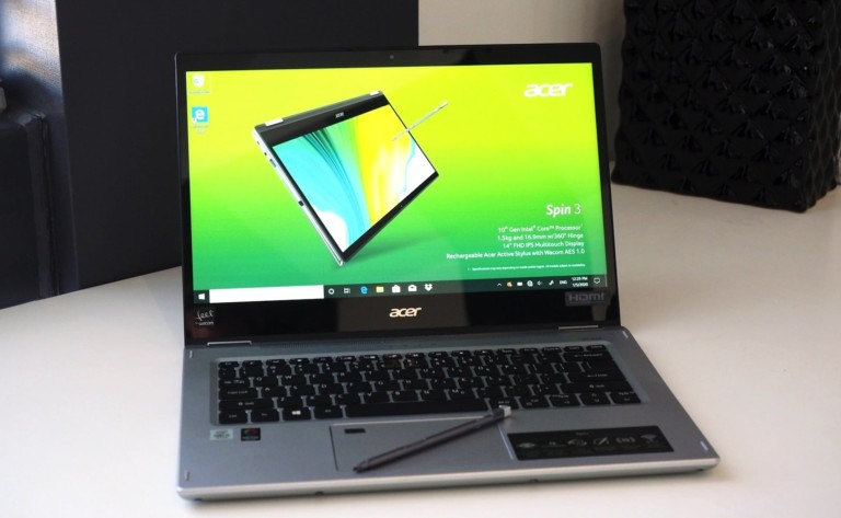 Acer Spin 5 2020 Convertible Laptop lost some weight with its redesign