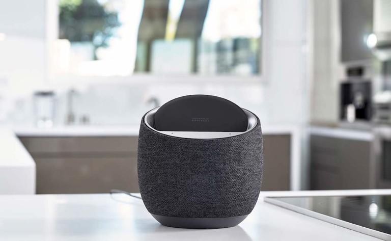 Belkin Devialet Soundform Elite Hi-Fi smart speaker has a built-in wireless charger on top