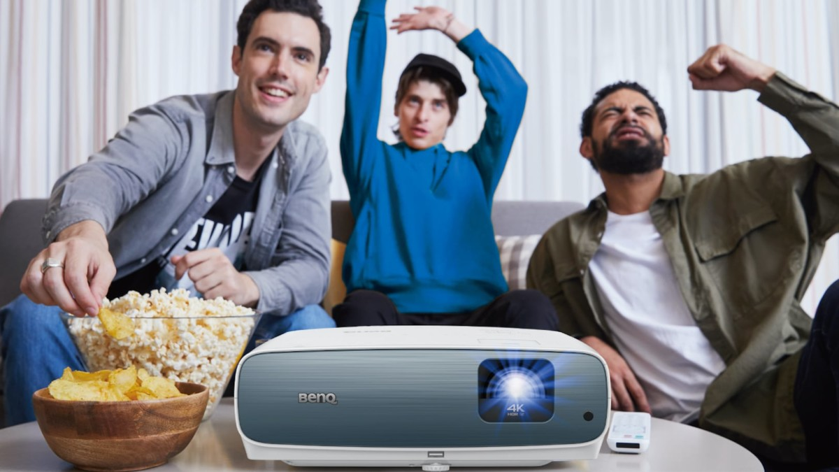 BenQ TK850 4K Home Theater Projector displays clear images even in brightly lit rooms
