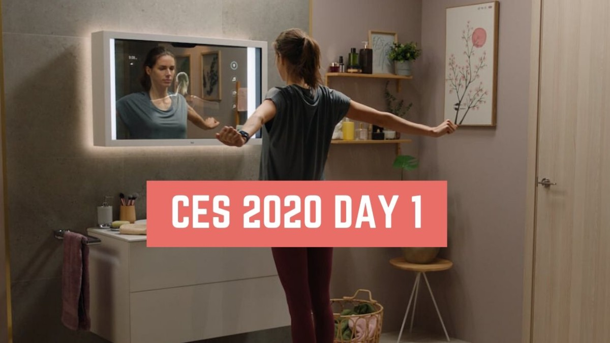CES 2020 Day 1 – Samsung Zero-Bezel 8K TV, Package-Delivery Robot, Bosch Virtual Vehicle Visor, and More