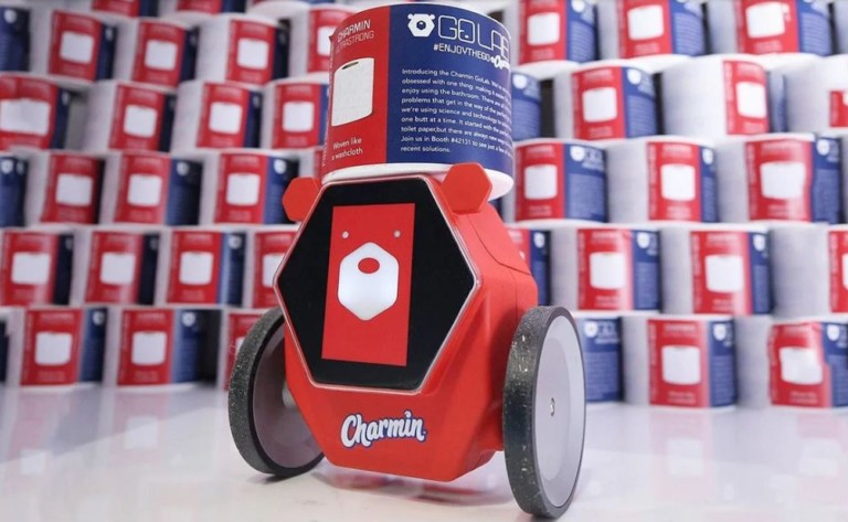 Charmin RollBot Toilet Paper Delivery Robot