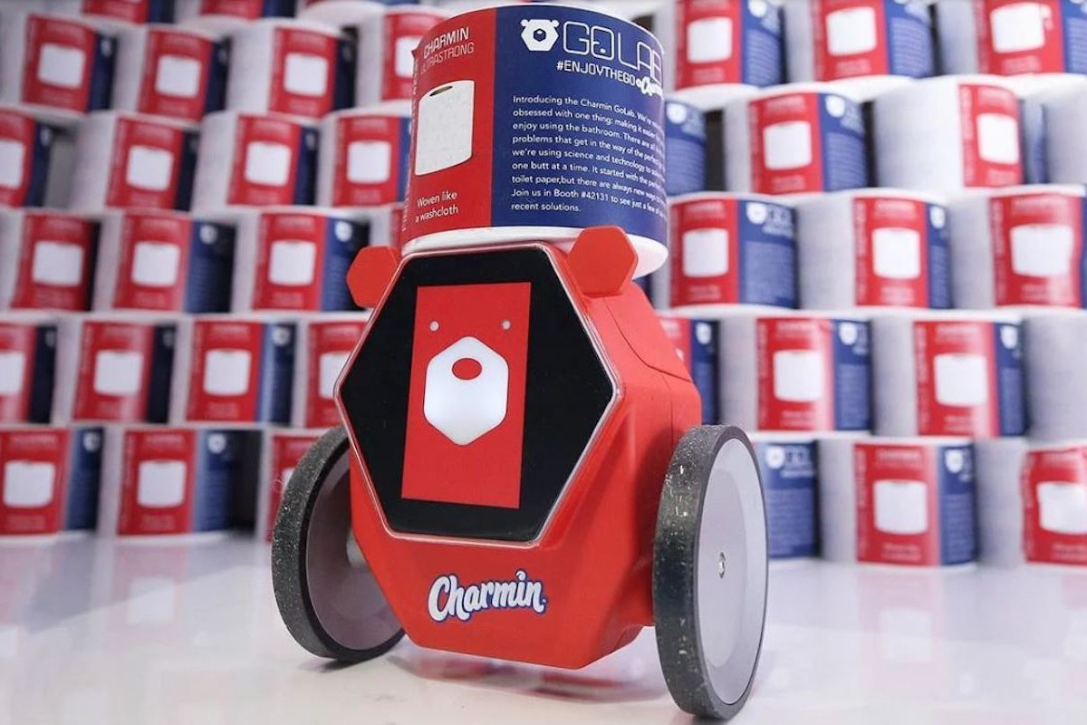 Charmin RollBot Toilet Paper Delivery Robot saves you in your time of need