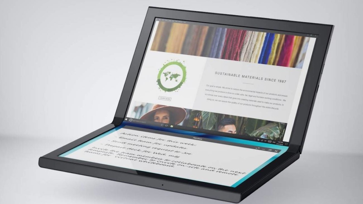 Dell Concept Ori Foldable Seamless Tablet offers a single 13″ screen