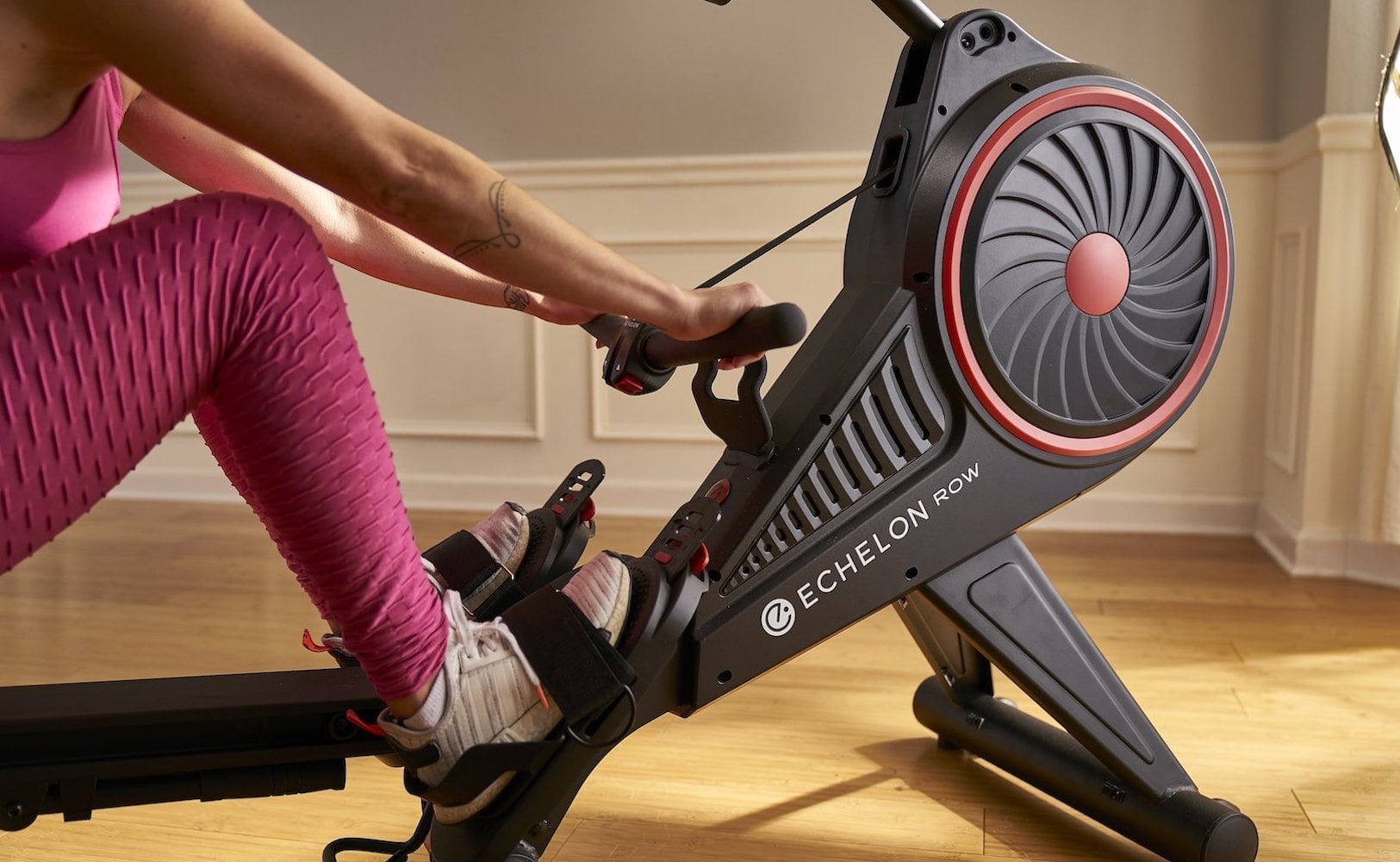 Echelon Row Smart rowing machine helps you strengthen important muscles at home