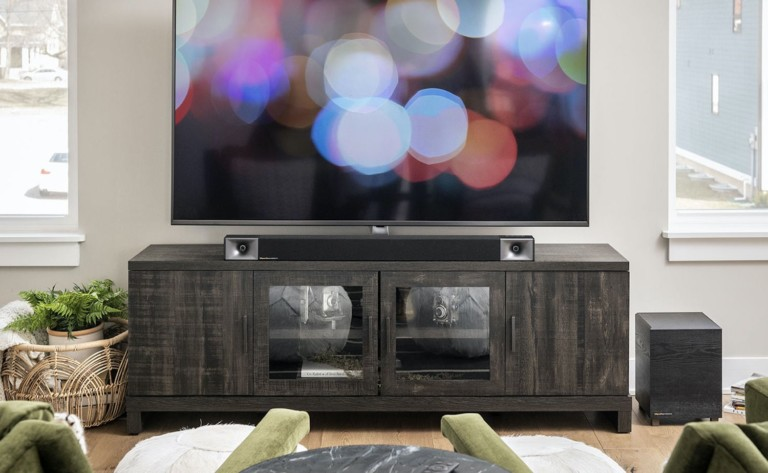 Klipsch BAR 40 + Wireless Subwoofer Speaker Set provides detailed sound from every angle