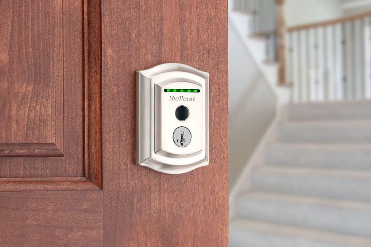 Kwikset Halo Touch Fingerprint Smart Lock is smaller than other designs
