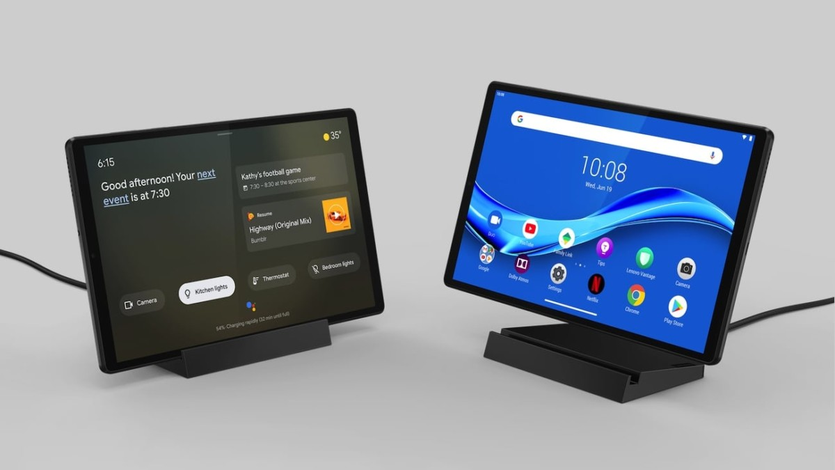 Lenovo Smart Tab M10 FHD Plus 2nd Gen Google Assistant Android Tablet acts as a display when docked