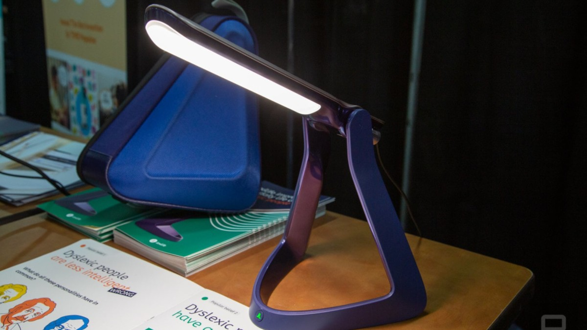 Lexilight Reading Aid Lamp is designed for people with dyslexia