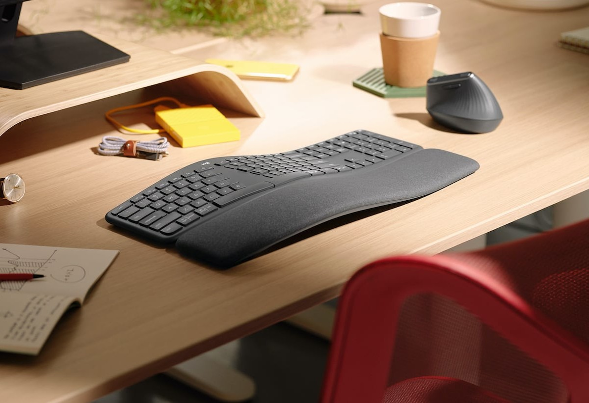 Logitech Ergo K860 Ergonomic Keyboard is designed for all-day comfort