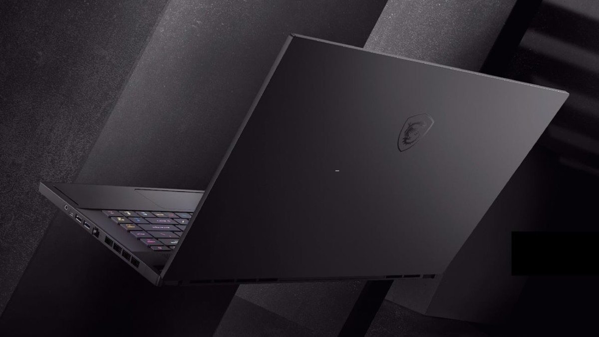 MSI GS66 Stealth Low-Profile Gaming Laptop has a pure-black chassis for sleek design