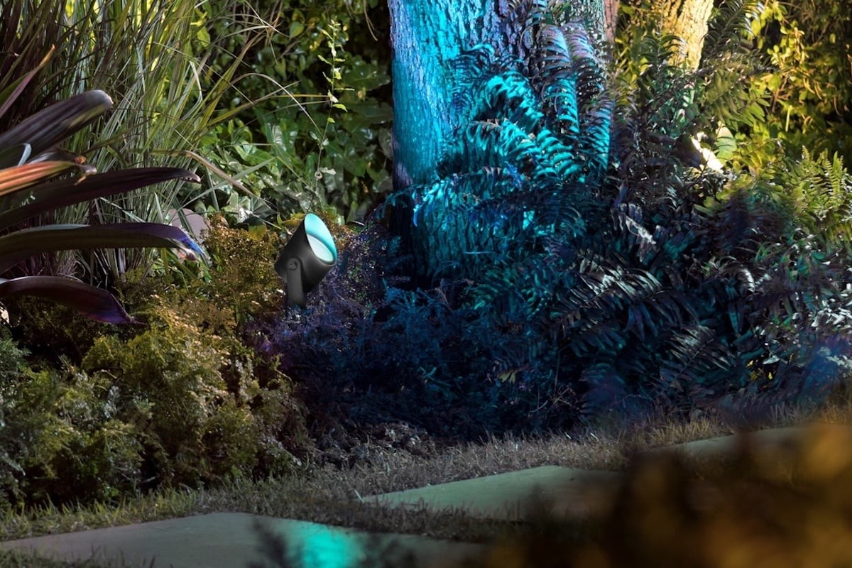 Philips Hue Lily XL Large Spotlight provides 16 million colors to illuminate your outdoor space