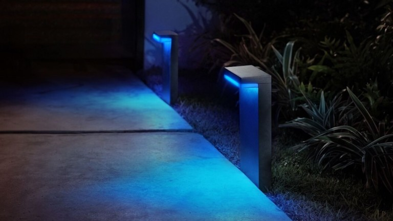 Philips Hue Nyro Downward-Facing Outdoor Light provides subtle color effects