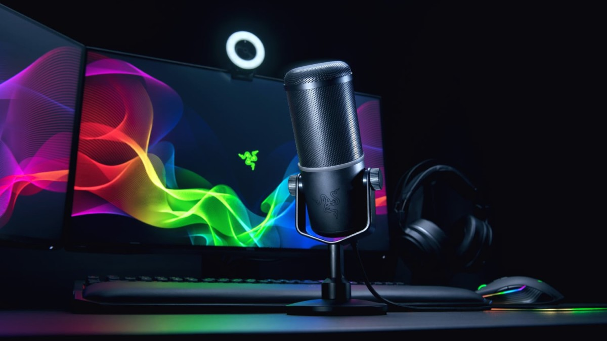Razer Seirēn Elite Streaming Microphone makes sure your followers hear the emotion behind your words
