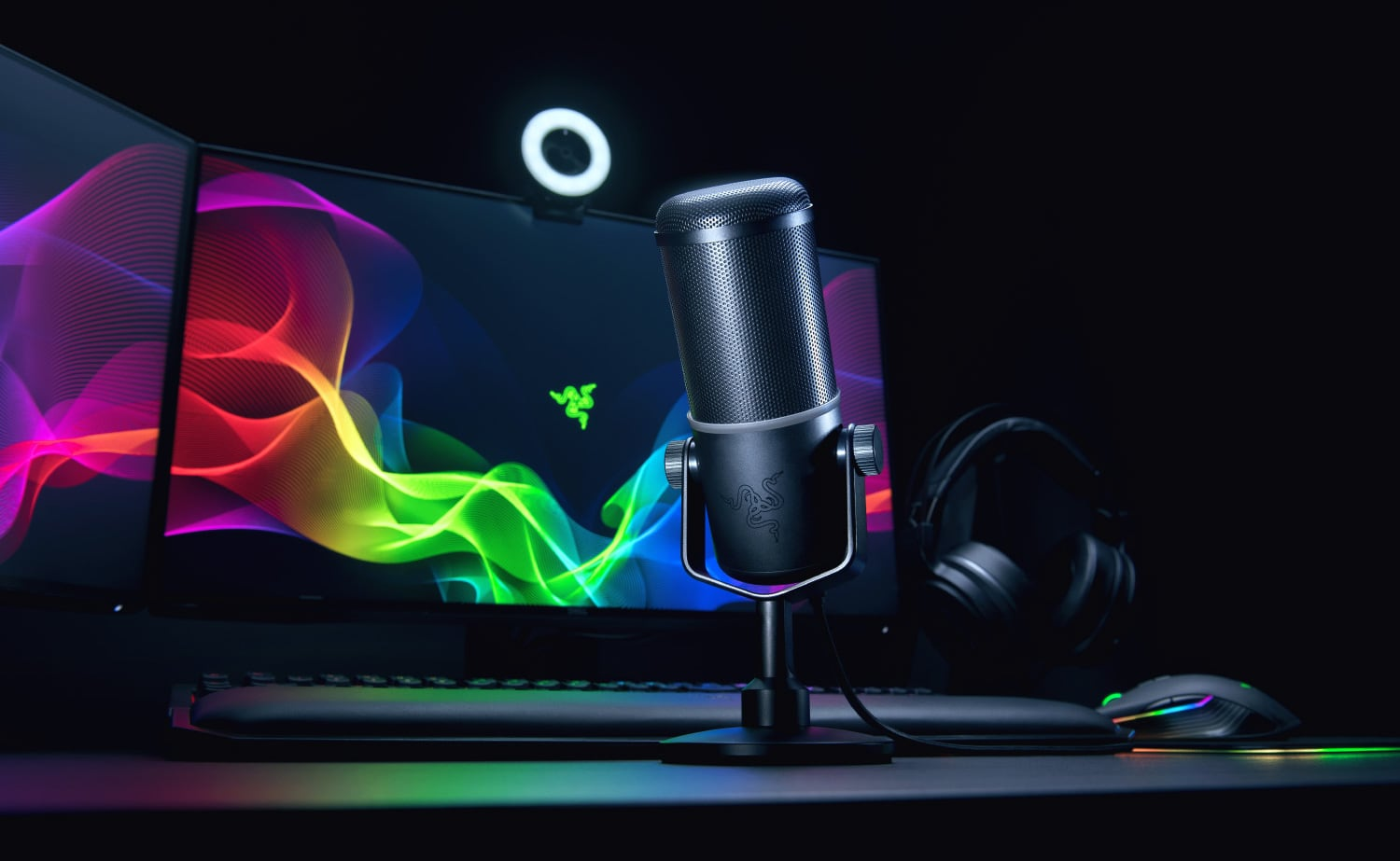 Razer Seirēn Elite Streaming Microphone lets your followers hear the emotion in your words