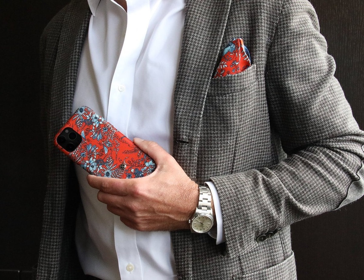 Revested Vibrant Silk iPhone Case is a luxurious fashion piece for your phone