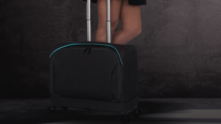 Rollux Versatile 2-in-1 Suitcase is a carry-on bag that expands to full size