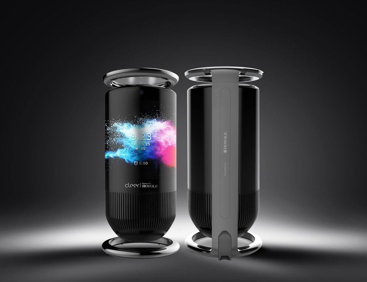 Royole Mirage Smart Wraparound Display Speaker plays with 3 full-range 48-mm drivers