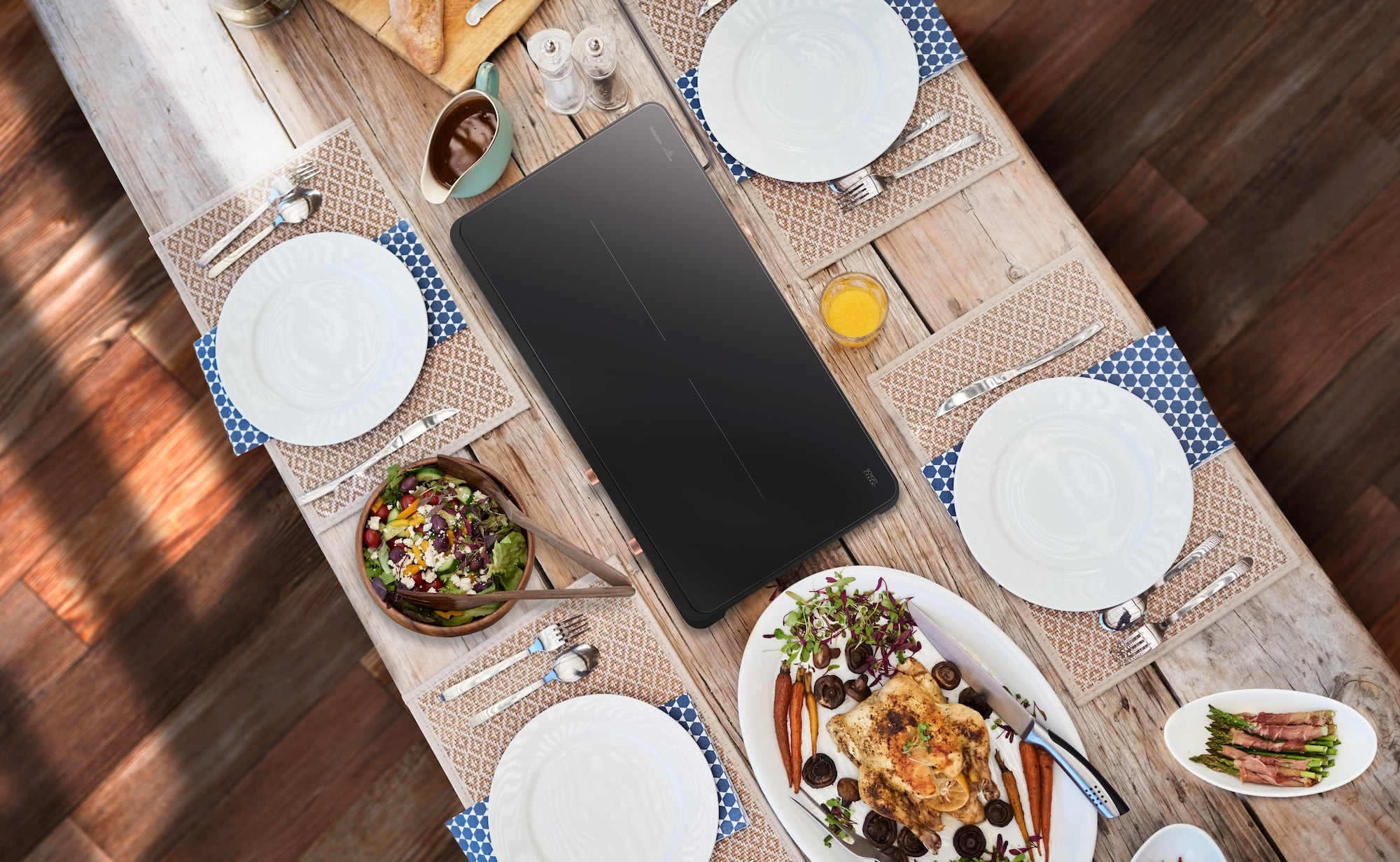 Samsung Portable Slim Double Induction 2-Burner Stove expands your kitchen space