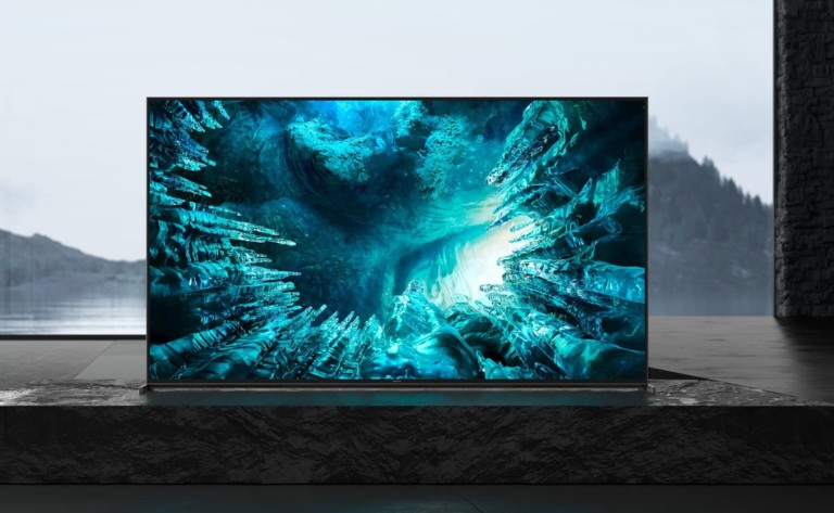 Sony Z8H Series Smart 8K Android TV comes with a backlit remote for easy navigation