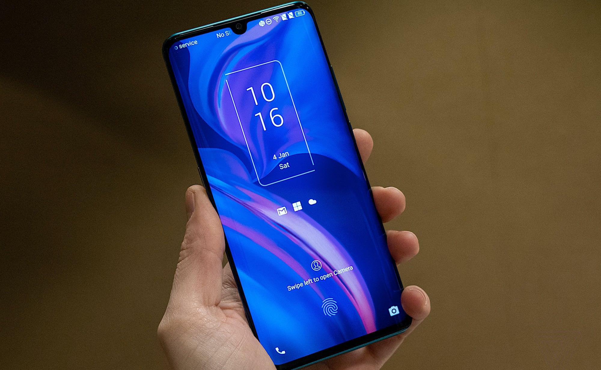 TCL 10 Pro, 10L, & 10 5G Sleek Smartphones has a fingerprint sensor on the screen