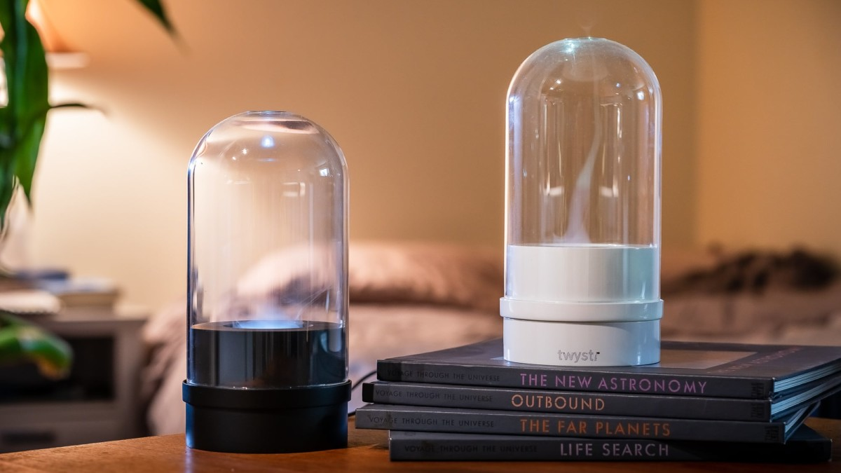 TWYSTR Tornado Diffuser offers function in an artistic container to enhance your senses