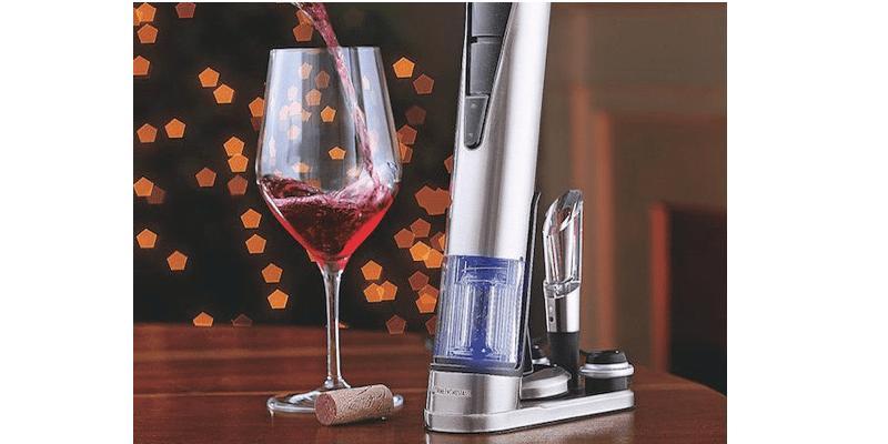Electric Blue 1 Wine Opener & Preserver Set