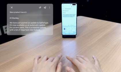 Samsung SelfieType Invisible Keyboard