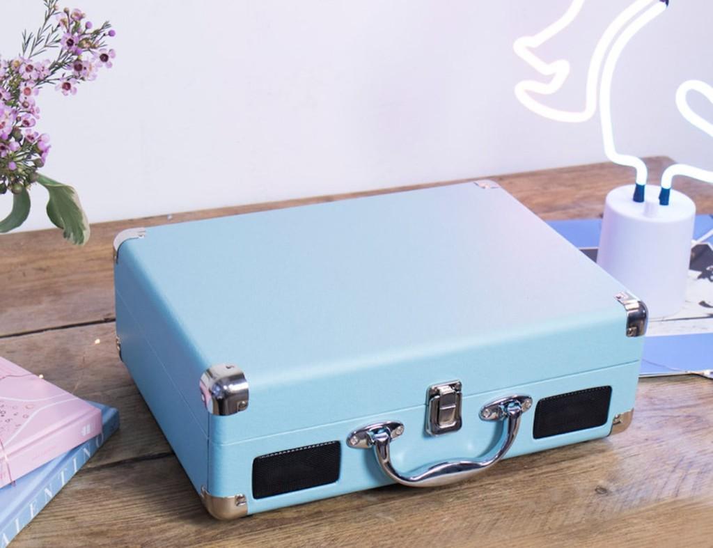 Global Gizmos Retro Portable Briefcase Turntable