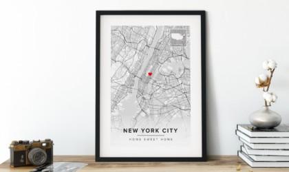 Maps of the World Custom Map Wall Art