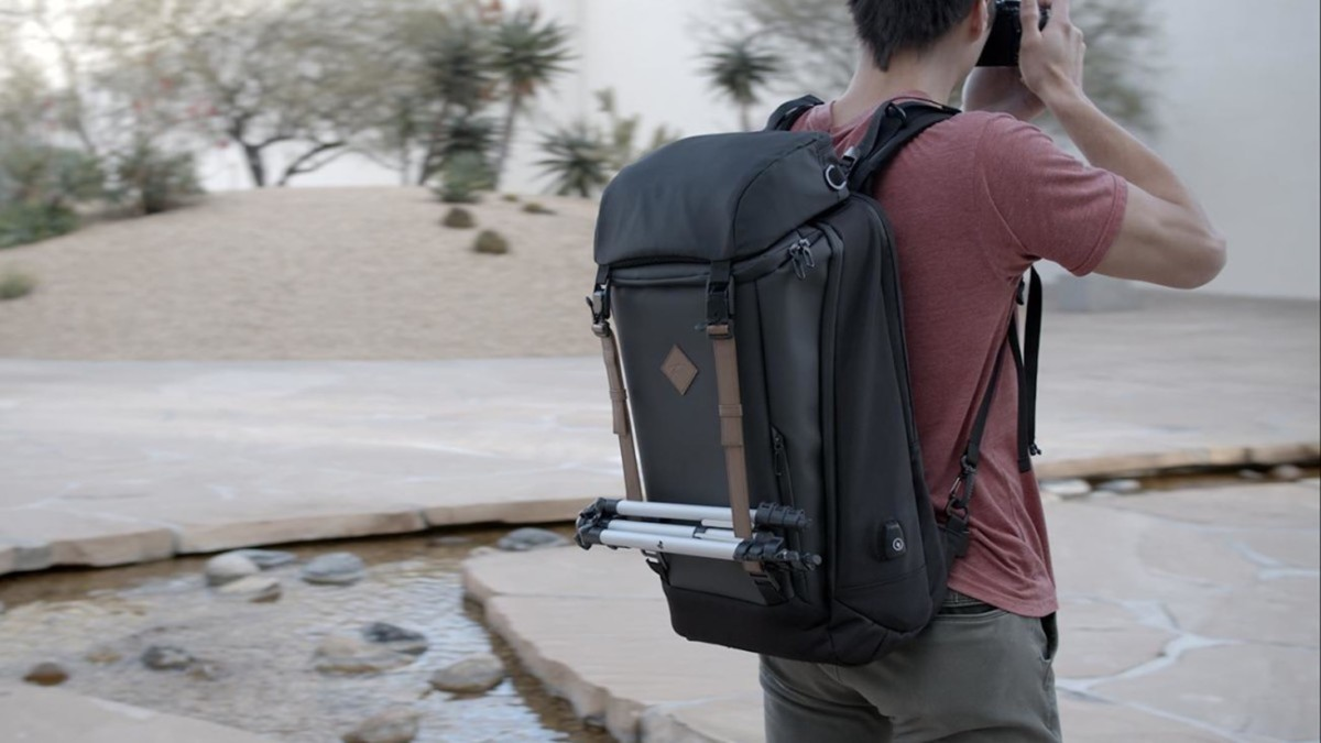 This backpack makes it easy to travel with your camera