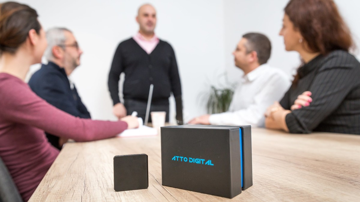 TileRec Mini Voice-Activated Recorder lets you easily record any conversations