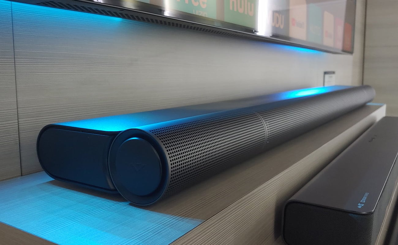 Vizio Elevate Rotating Sound Bar offers a new listening experience for your home theater