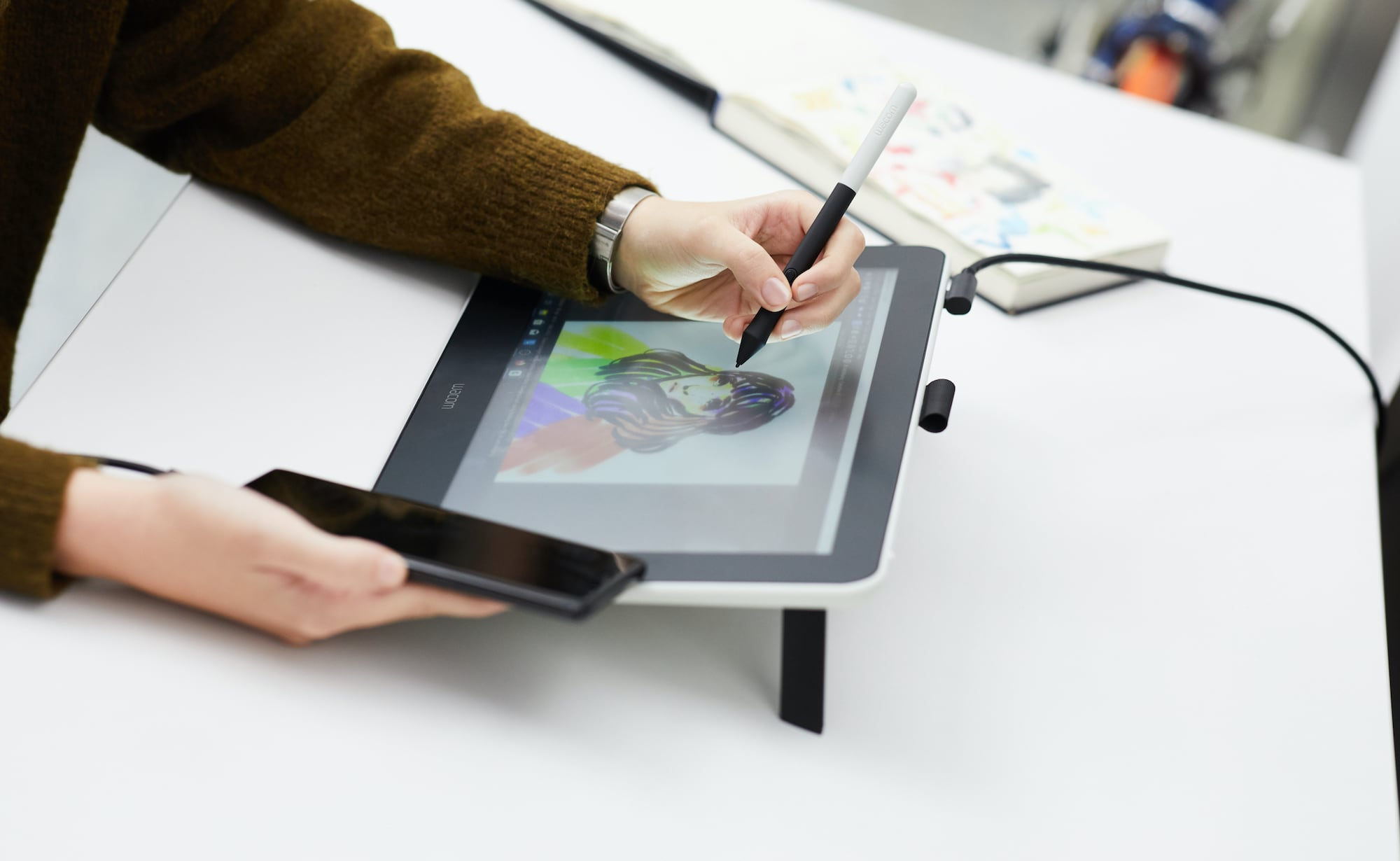 Wacom One Creative Pen Display makes you feel like you're drawing on paper