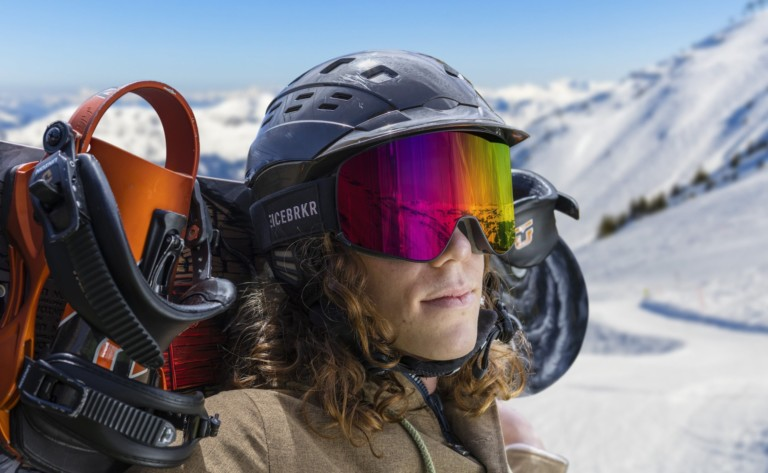 IceBRKR Bone Conduction Audio Ski Mask