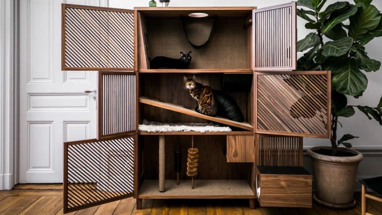 24Storage Cat Flat Bespoke Feline House looks like a gorgeous cabinet