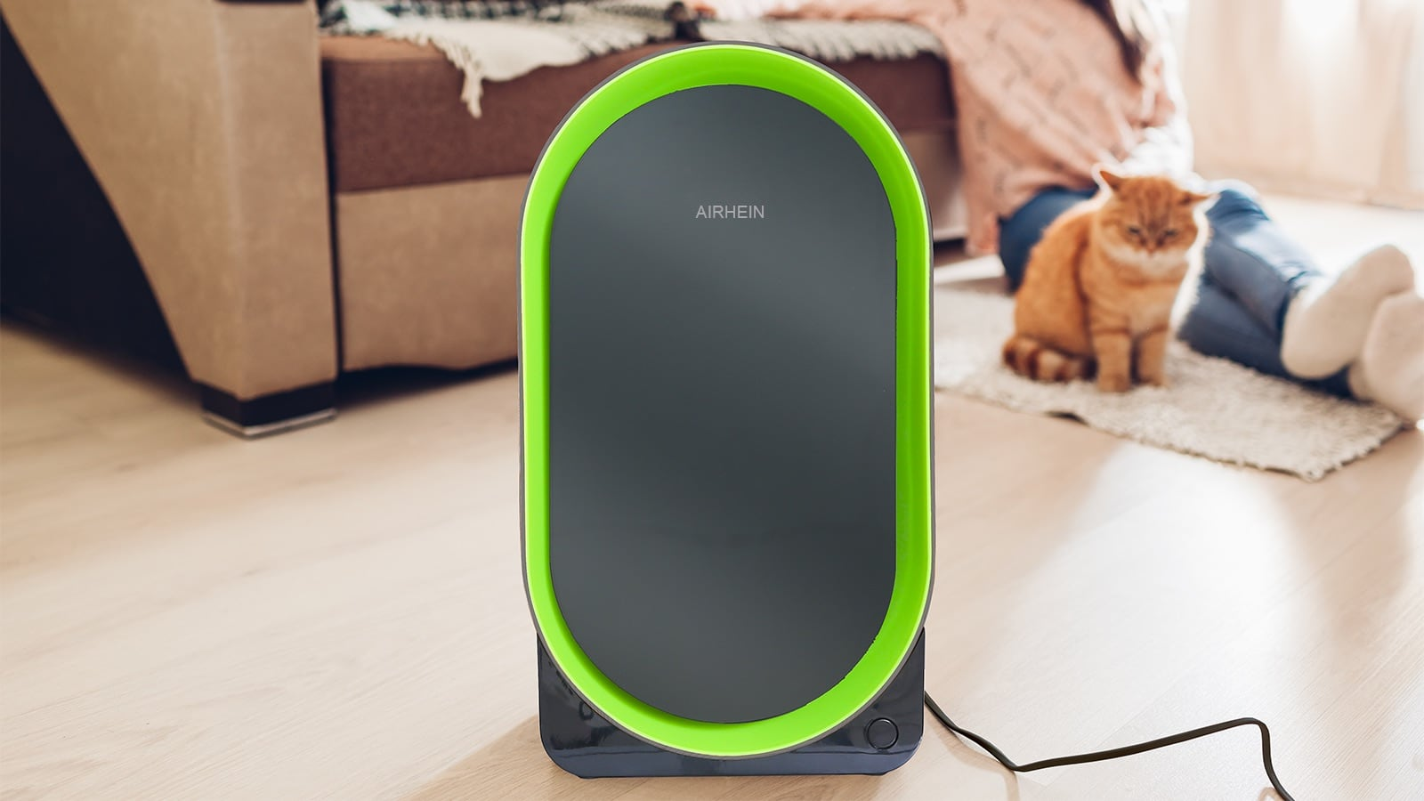 AirHein Minimalist 6-in-1 Air Purifier removes 99% of pollutants and pathogens from your air