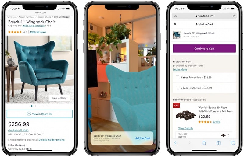 Apple's Quick Look feature helps you buy the right sofa, faster