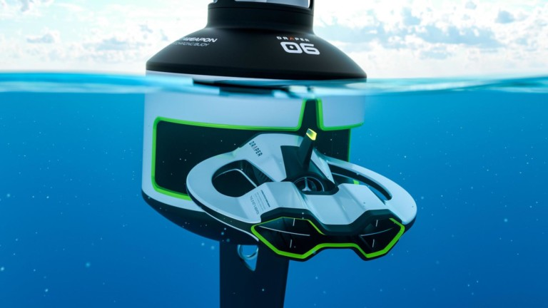 Autonomous Underwater Vehicle Swimming Drone by Draper & Sprout Studios may just clean up the ocean