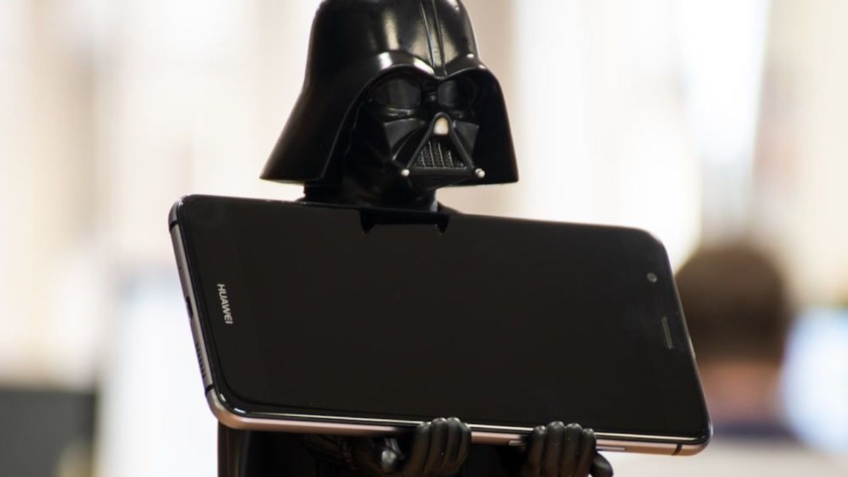 Cable Guys Darth Vader Device Holder keeps your smartphone on display