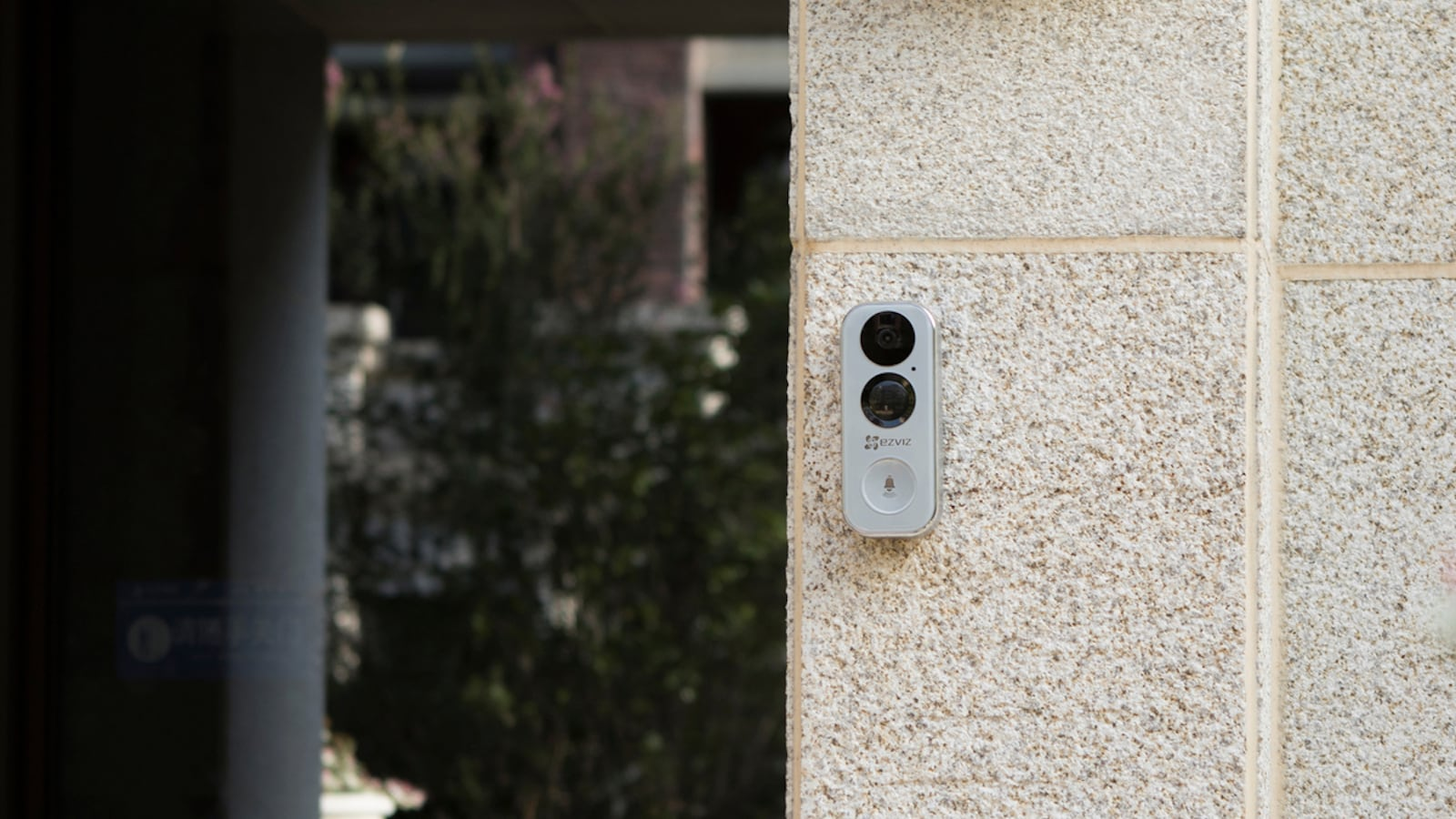 EZVIZ DB1 Wi-Fi Smart Doorbell displays who's at the door from top to bottom