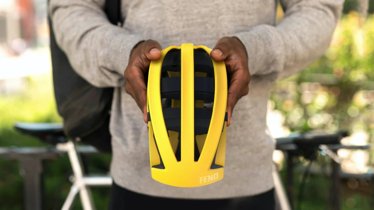 The Foldable Bike Helmet