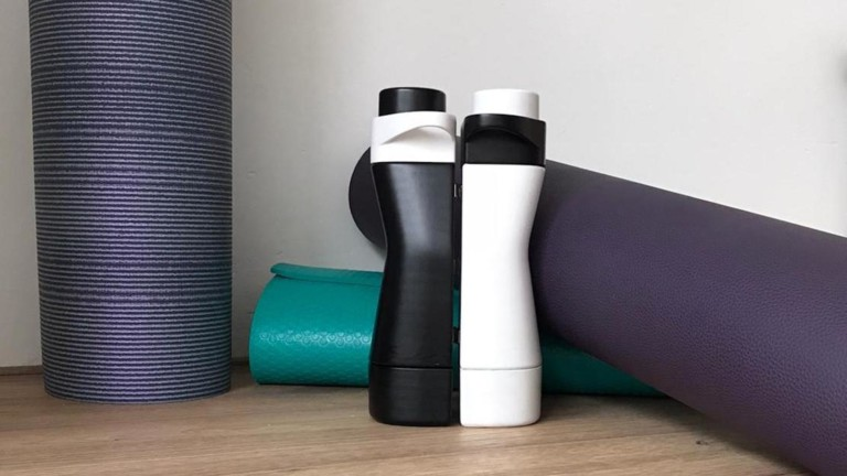 Fusion Kinetic Magnetic 2-in-1 Water Bottle lets you attach it right to your gym machine