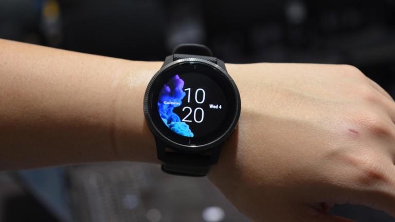 "Garmin Venu <em class=""algolia-search-highlight"">GPS</em> Fitness Watch boasts a beautiful 1.2"" touchscreen"