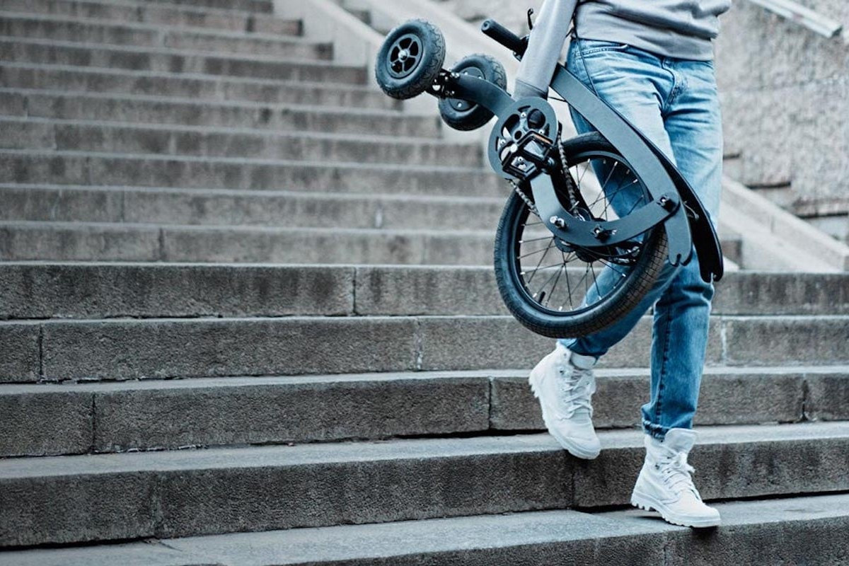 Halfbike 3 Compact Standing Bike is easy to maneuver even on downhills