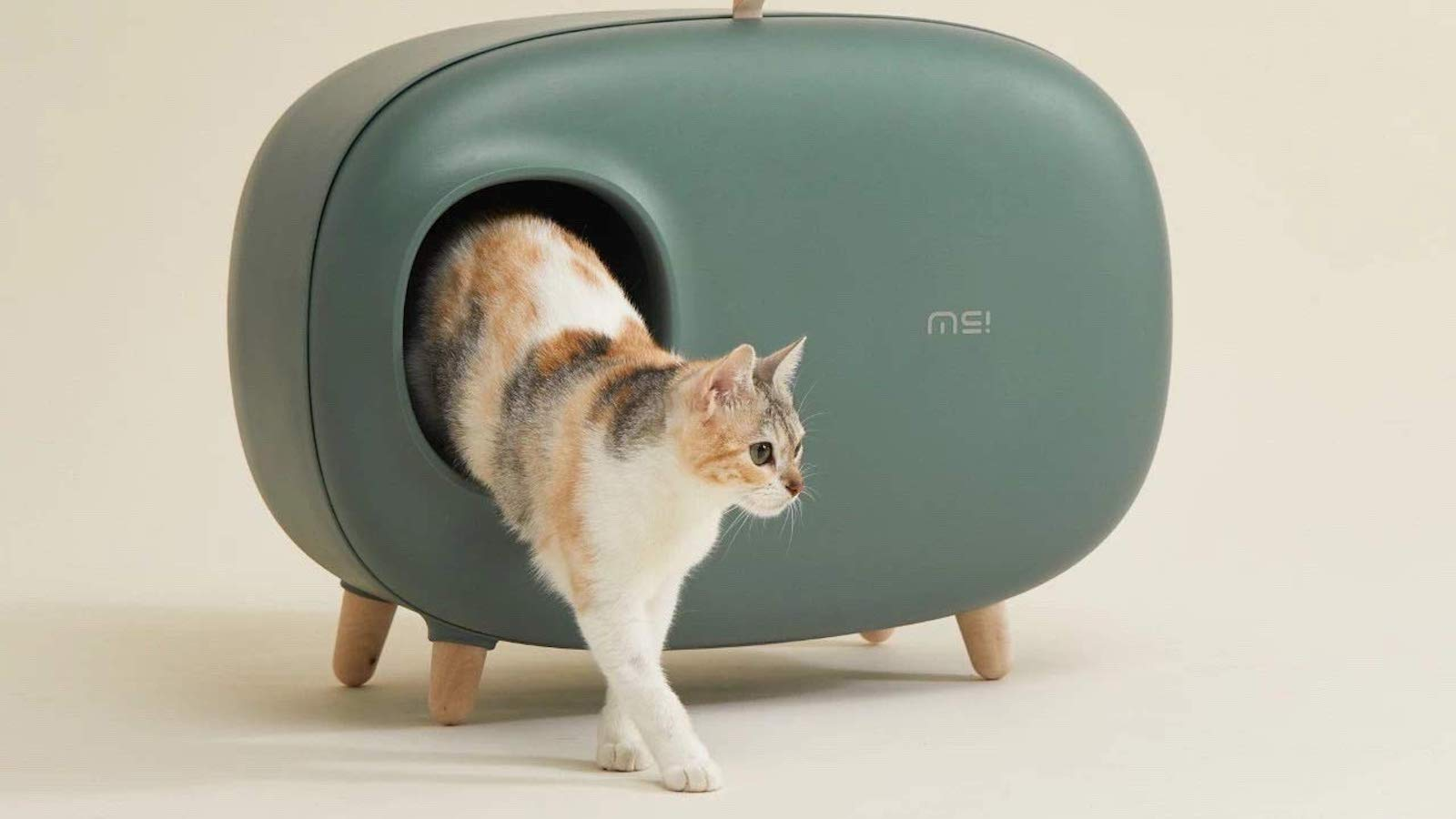 This Modern Cat Litter Box Stores The Scoop And Bags