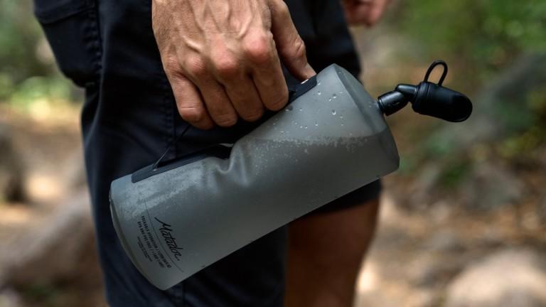 Matador Packable 1-Liter Water Bottle is made of flexible TPU