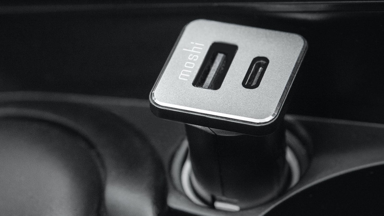 Moshi QuikDuo USB-C PD Car Charger can fast charge and deliver up to 36 watts