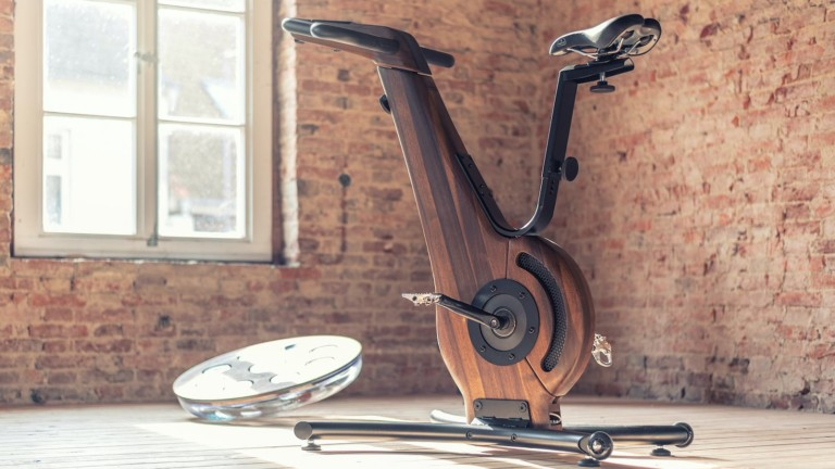 NOHrD Bike Wooden Indoor Bicycle has a beautifully streamlined structure