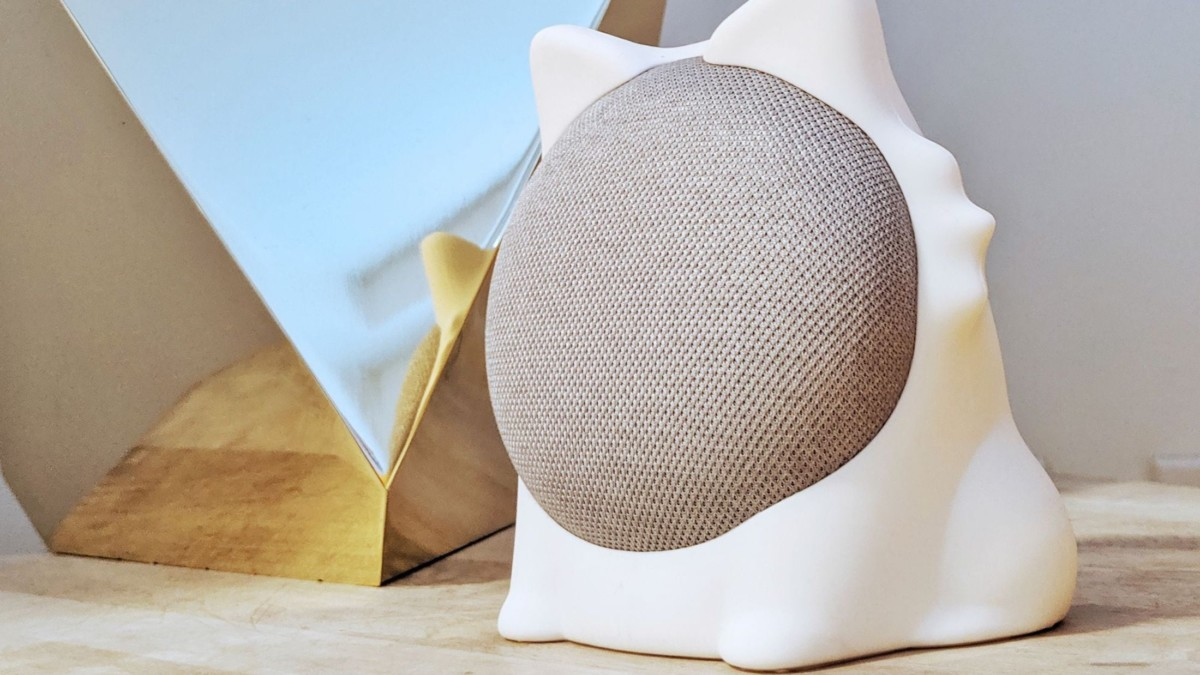 ODD-ON Industries Caat Google Home Mini Cover turns your speaker into a cute feline